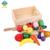 2016 Chegada Nova Conjuntos de Alimentos Frutas Cortadas Conjunto Magnético De Madeira Brinquedos Fingir Jogar Cozinha Brinquedos Educativos Presente de Aniversário