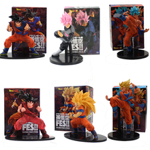 Dragon Ball Son Goku Figure Toy FES Black Goku Zamasu Super Saiyan God Blue Hair Battle Ver Collectible Model Doll