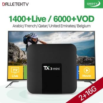 Arabic French IPTV Subscription TX3 Mini S905W Quad Core Android Box IPTV Belgium Netherlands Algeria Lebanon Tunisia IP TV