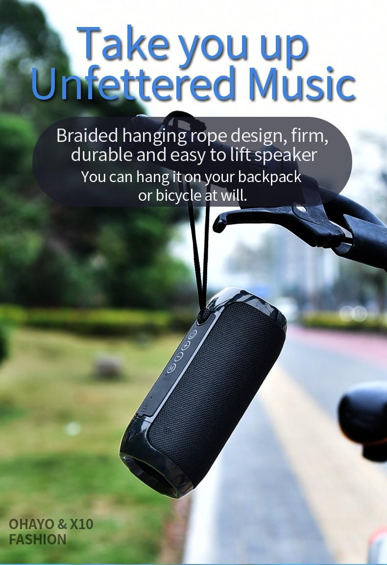 TG117 Bluetooth Outdoor Speaker Waterproof Portable Wireless Column Loudspeaker