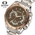 Gucamel Tourbillon Wrap Mens Watches Automatic Watch Golden Case Calendar Male Clock Black Mechanical Watch Relogio Masculino