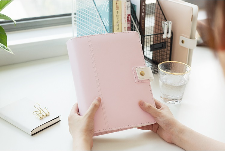 Harphia Zipper Notebook 3cm Ring A5 Travel Journals Loose Leaf Spiral Notebook Macaron Planner Binder Diary Agenda Organizer harphia 2018 2019 smart reusable binder a5 b5 flamingo notebook cat notepad diary planner with colorful divider organizer