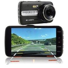 Udricare 4.3 дюймов автомобиль грузовик видеорегистратор Full HD 1080 P регистраторы ADAS LDWS расстояние Предупреждение Двойной объектив Камера сзади вид dvr