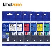 Разноцветная 36 мм Tze ленты tze261 совместимый с Brother p сенсорный принтер ламинированная Этикетка ленты tze-261 tze 261 tze161 tze461 tze661