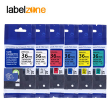Tapes P-Touch-Printer Label Laminated Multicolors Tze261 36mm Compatible