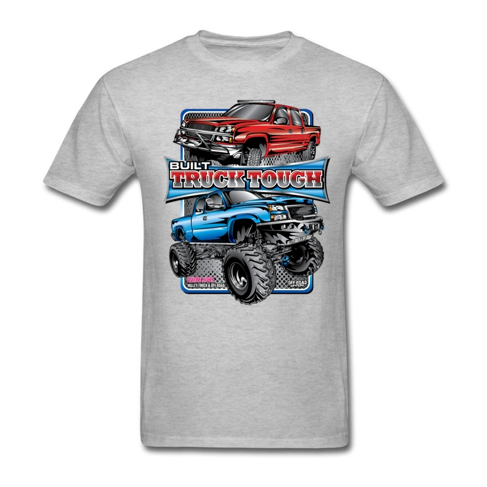 Males Built Truck Tee Shirts pop music Unique Design Short-sleeved Costumes with Truck Touch 80s On Sale T Shirts for teenage