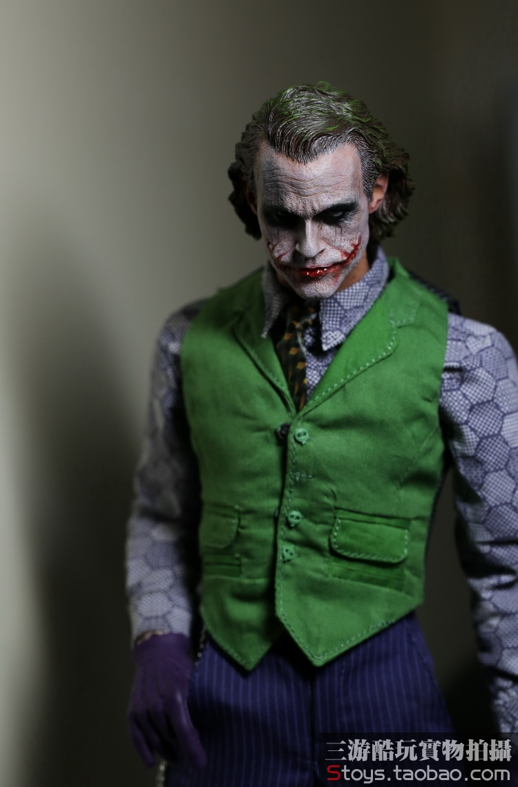 1:6 scale Super flexible male figure Batman JOKER Heath Ledger 12 action figure doll Collectible Model Plastic toys MJ12 No box