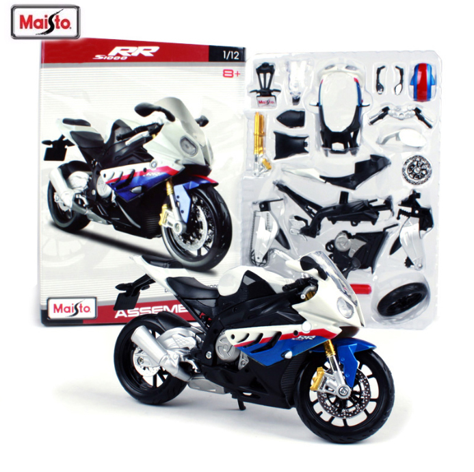 Hot Maisto 1:12 Motorcycle Toy Alloy S1000RR Motorcycle Car DIY Assembled Motor Model Kids Toys Adults Toy Kits Free Shipping(China)