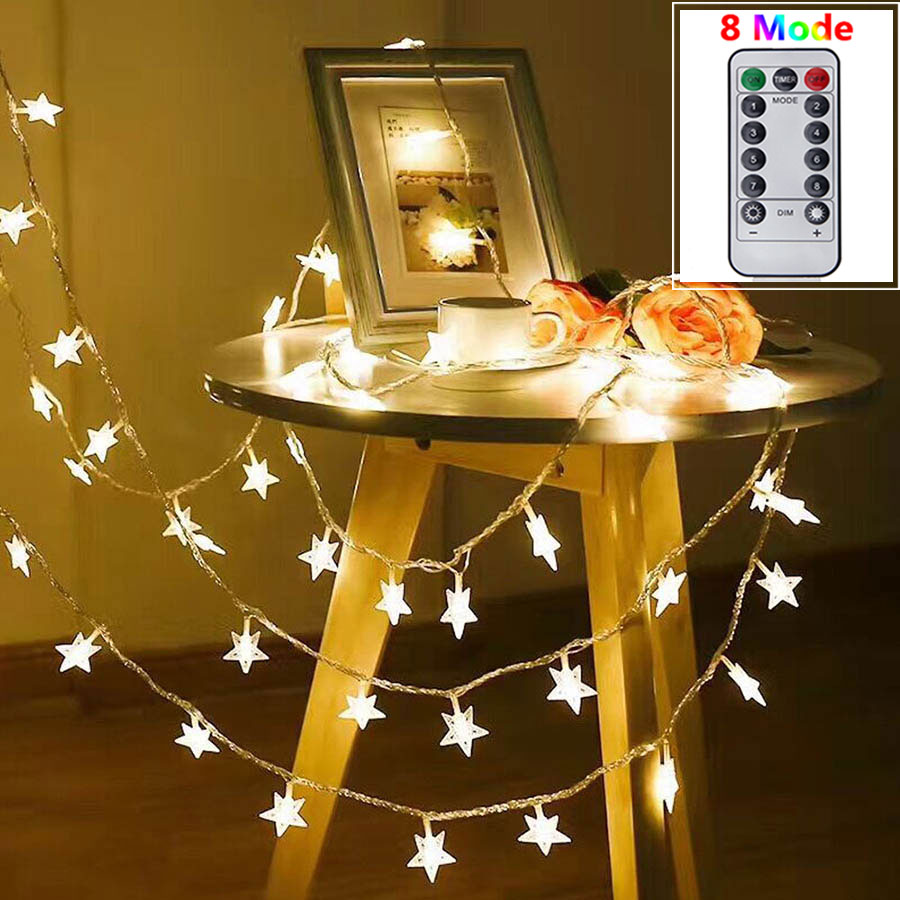 3M 10M USB LED Star String Light 8 Mode Remote Control Fairy Light Christmas Tree Wedding Party Garden Home Decor Lighting Lamps