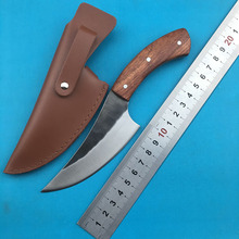 LEMIFSHE High carbon steel fixed knife straight hand forged hunting knife 58HRC wooden handle camping outdoor kitchen knife все цены