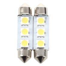 2X ламповый челнок FESTOON 3 светодиодный 39 мм CANBUS Белый
