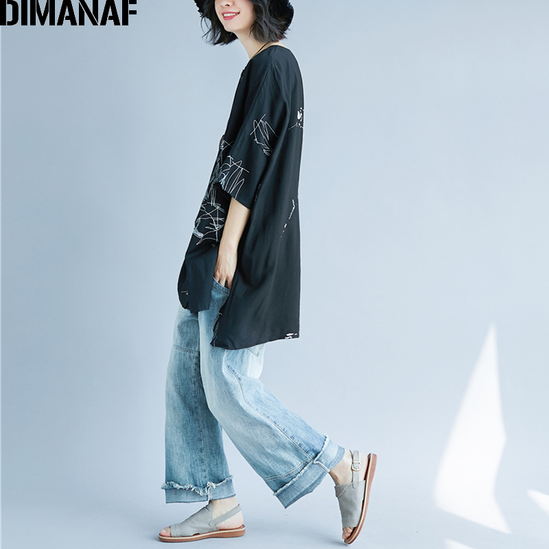 DIMANAF Women Summer Blouse Shirt Plus Size Print Linen Thin Basic Tops Femme Tee Casual Large Clothing Loose Soft Cardigan 2018 3