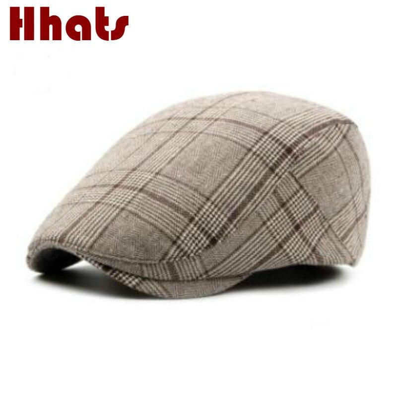 Die in dusche männlich weiblich sommer frühling plaid mütze freien flache kappe für frauen männer vintage casual erreichte hut entenschnabel gorras