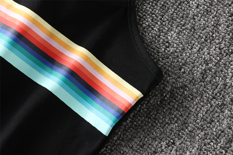 HTB1pUznRXXXXXc6XVXXq6xXFXXXG - Women Tank Offset Printing Rainbow Stripes Cropped PTC 84