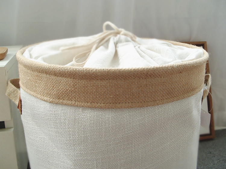 Picnic Basket Stand Laundry Basket Toy Storage Box Super Large Bag Cotton Washing Dirty Clothes Big Basket Organizer Bin Handle (4)