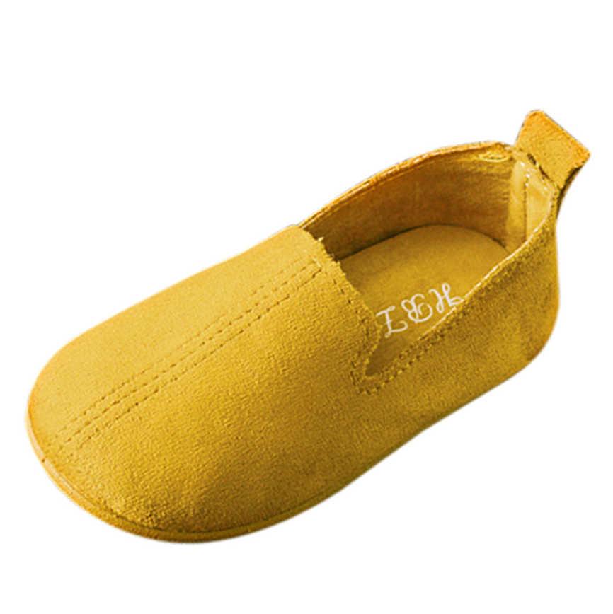 2019 ล่าสุด All Seasons เด็กแฟชั่นรองเท้าเด็กผู้หญิงสีสบายๆรองเท้าเดี่ยวรองเท้าเจ้าหญิงรองเท้า D20Z