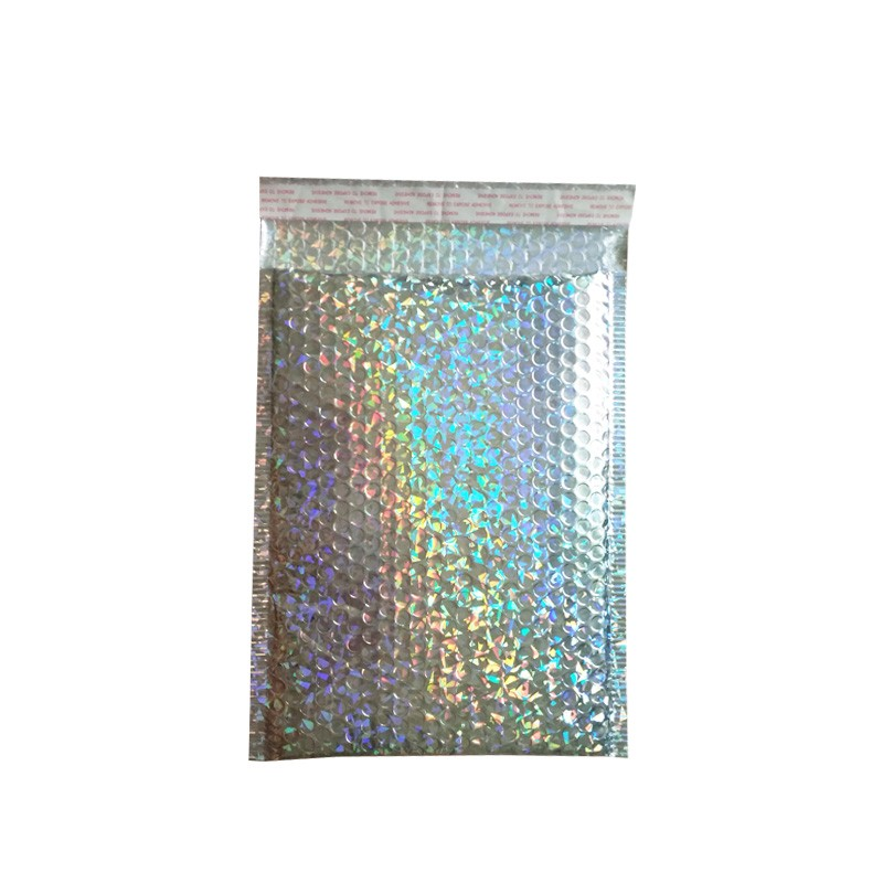 Image 2 - 15x13cm/23x30cm Large Sliver laser Wrap Glitter Metallic Bubble Mailer Bag Gift Bag Aluminum Foil Seals Bubble Envelope Gift Bag-in Gift Bags & Wrapping Supplies from Home & Garden