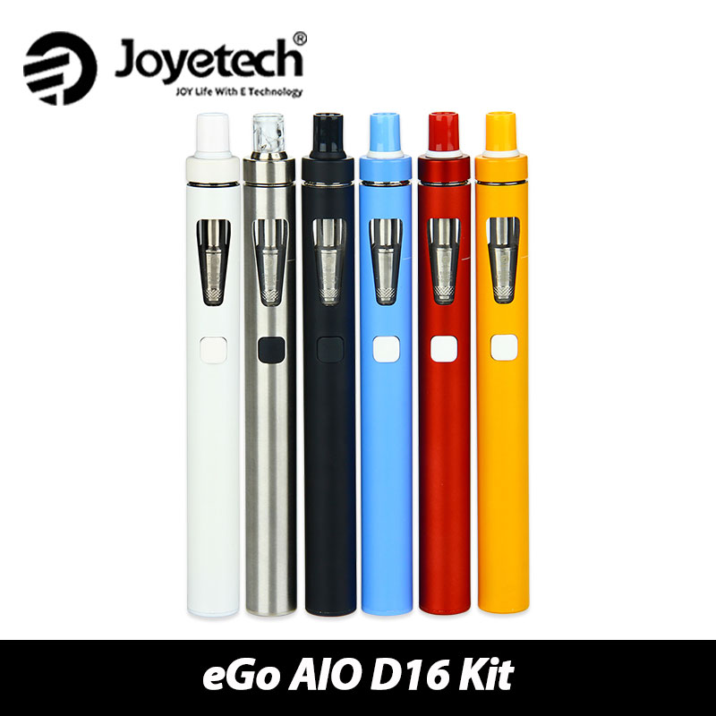 Original Joyetech eGo Aio D16 Starter Kit 1500mAh Battery with 2ml Atomizer Tank BF SS316-0.6ohm MTL All In One Style original joyetech ego one v2 starter kit with 2ml atomizer and 1500mah 2200mah battery electronic cigarette