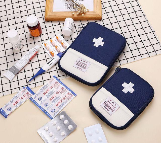 Portable Outdoor First Aid Kit Bag Storage Organizer 6