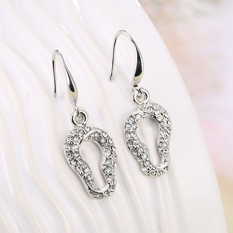 2014 New Fashion Jewelry Latest Design Earrings Big Feet Rhinestone Earring Fashion Wedding