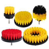 5PCS 2inch 3inch 4inch 5inch Drill Brush Soft Medium Bristle Scrub Attachment Cleaning Kit Great For Cleaning Glass Tile Fl