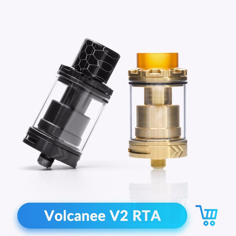 Volcanee V2 RTA del atomizador de doble bobina 316 SS 24 diámetro Vape tanque para 510 Thead caja Mod cigarrillo electrónico atomizador del Advken RTA tanque