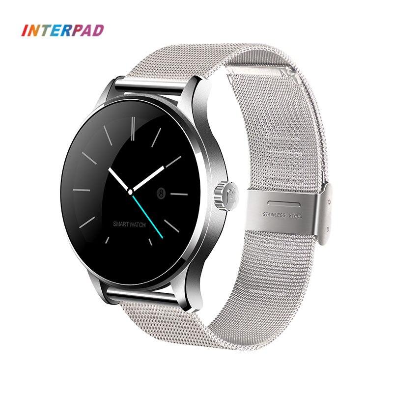 Galleria fotografica Interpad K88H MTK2502C Intelligente Orologio Bluetooth 4.0 HD IPS Schermo Heart Rate Monitor Orologio <font><b>Smartwatch</b></font> Per Xiaomi Huawei Android