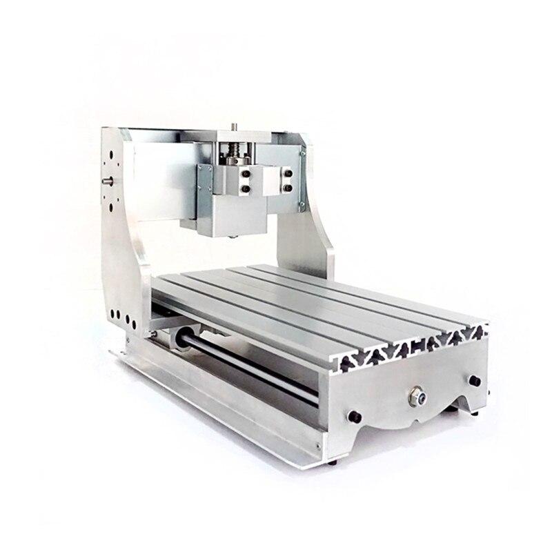 Mini CNC 3020 Lathe Frame Engraver Milling Machine Base Bracket Ball Screw Optional For DIY CNC Router 3D Printer diy cnc 3060 engraving machine 400w wood milling router 6030 ball screw cutting engraver lathe frame