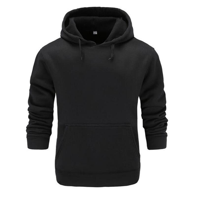 2018 New Brand Cotton Hoodie Streetwear Hip Hop Red Black Gray Pink Hooded Hoody Mens Hoodies And Sweatshirts Size M-XXL