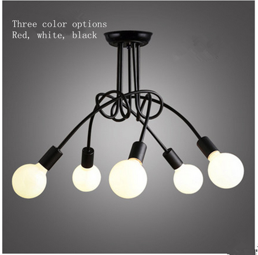 Creative personality minimalist modern living room lights, wrought iron lamps led Nordic American Art restaurant bedroom ceiling 2017 new ceiling light loft modern minimalist creative living room restaurant lamp bedroom restaurant iron art wood chandelier