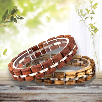 BOBO BIRD Wooden Bracelet Homme Men Women Wooden Bangle Jewelry Gift pulsera hombre Great Gifts Lovers' Watches