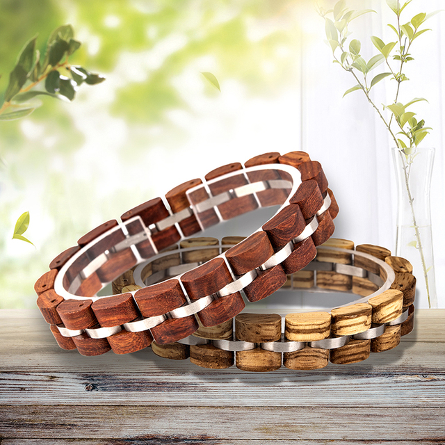 (Not Available in RSA) BOBO BIRD Wooden Bracelet Homme Men Women Wooden Bangle Jewelry Gift pulsera hombre Great Gifts