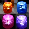 Romantic Christmas lights LED voice-control projection electronic candle light Colorful lights Bluebottle small night light