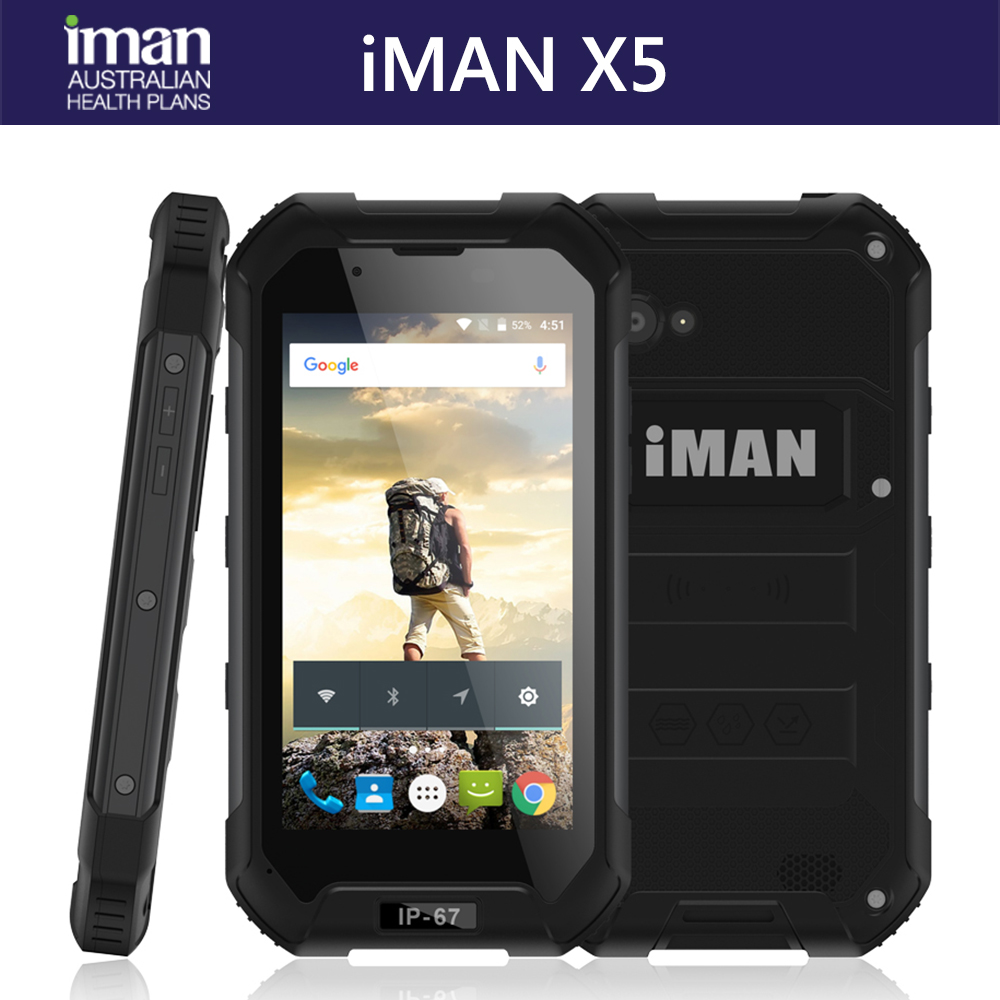 iMAN X5 2017 NEW 3G Mobile Phone Android 5.1 1GB RAM 8GB ROM 5.0MP camera support SOS IP67 Dual sim Mobile Phone