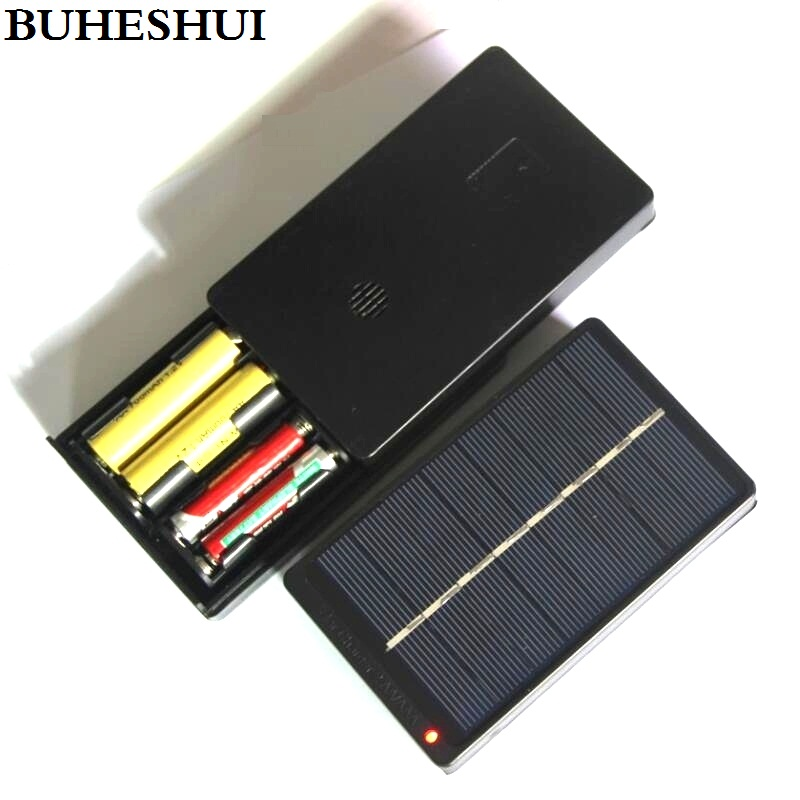 BUHESHUI 1W 4V Solar Panel With Base Solar Cell For 1.2V 2xAA 2XAAA Rechargeable Battery Charging Directly 10pcs  High Quality high efficiency solar cell 100pcs grade a solar cell diy 100w solar panel solar generators