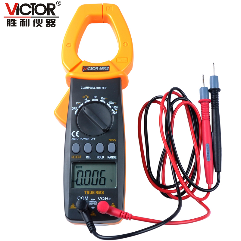 Victor VC6056E Digital Clamp Multimeter Jaw open 55mm portable design, can be one-handed operation victor e kappeler community policing