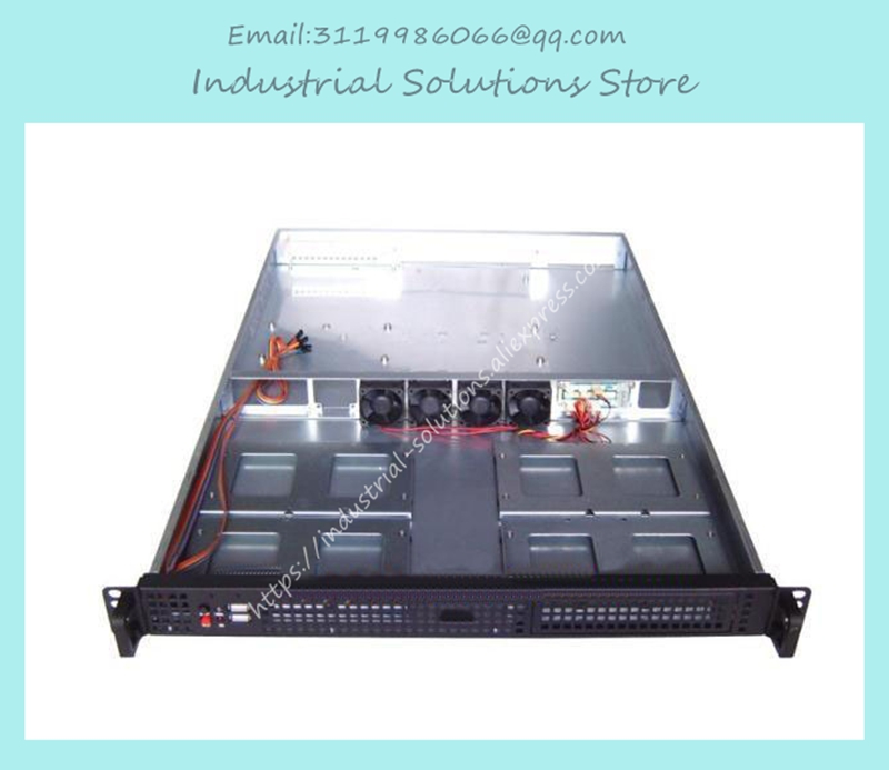 все цены на  NEW 1U computer case 4 hard drive double server large-panel 1u industrial computer case 1u server computer case  онлайн