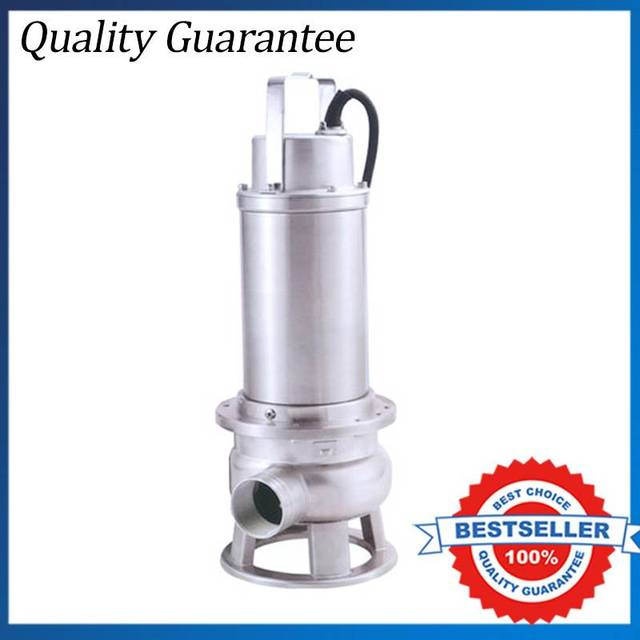 380V Three Phase Stainless Steel Submersible Centrifugal Pump 1.1kw Dirty Water  Pump For Basement
