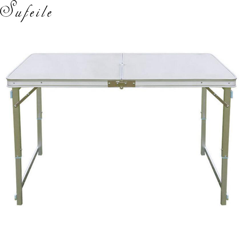 SUFEILE Can adjust the outdoor camping table Portable aluminum alloy folding Outdoor picnic table night market stall table D5 the new portable outdoor folding table chairs aluminum suitcase suit