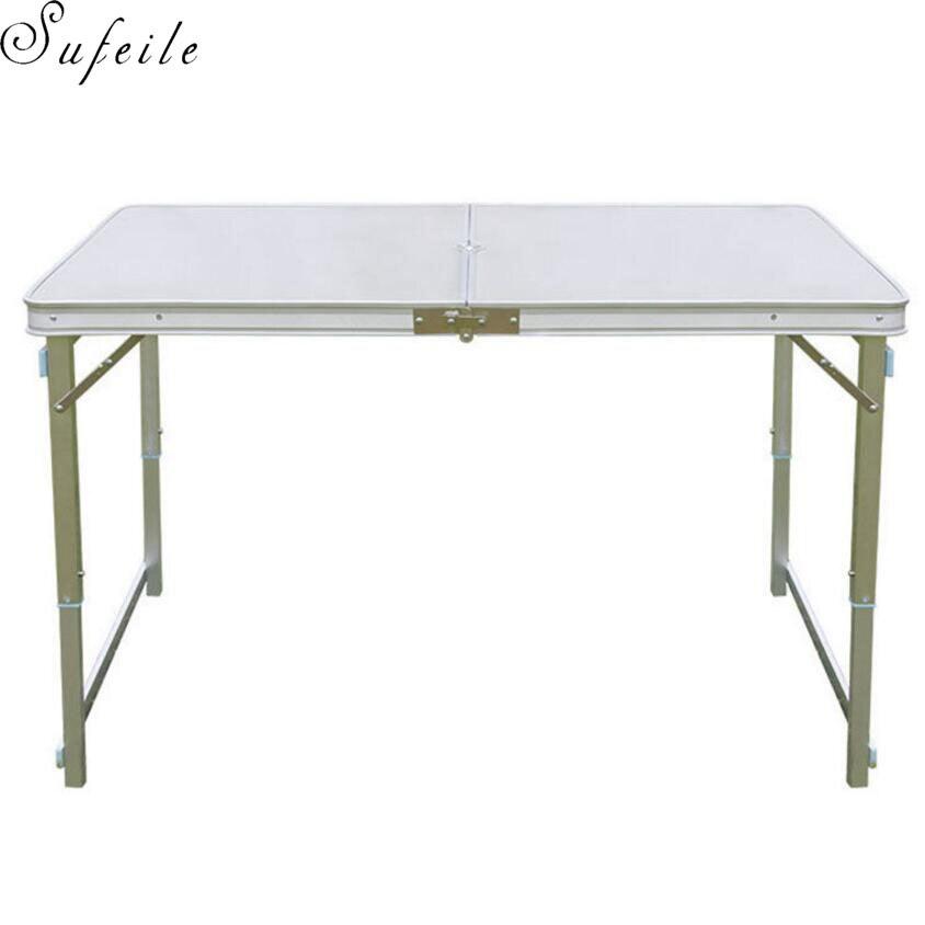 SUFEILE peut ajuster la table de camping en plein air Portable en alliage d'aluminium pliante table de pique-nique en plein air table de décrochage du marché de nuit D5