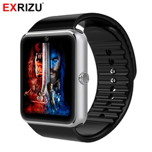 EXRIZU GT08 Smart Watch Wearable Clock Pedometer Smartwatch Watch Phone Bluetooth Call SMS Reminder SIM TF