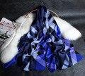 124130 4 cores 180x70 cm 2017 Recentes das Mulheres Xales de Seda Moda Cachecol, Lenço da forma, Seda das senhoras lenço, retângulo Cachecol