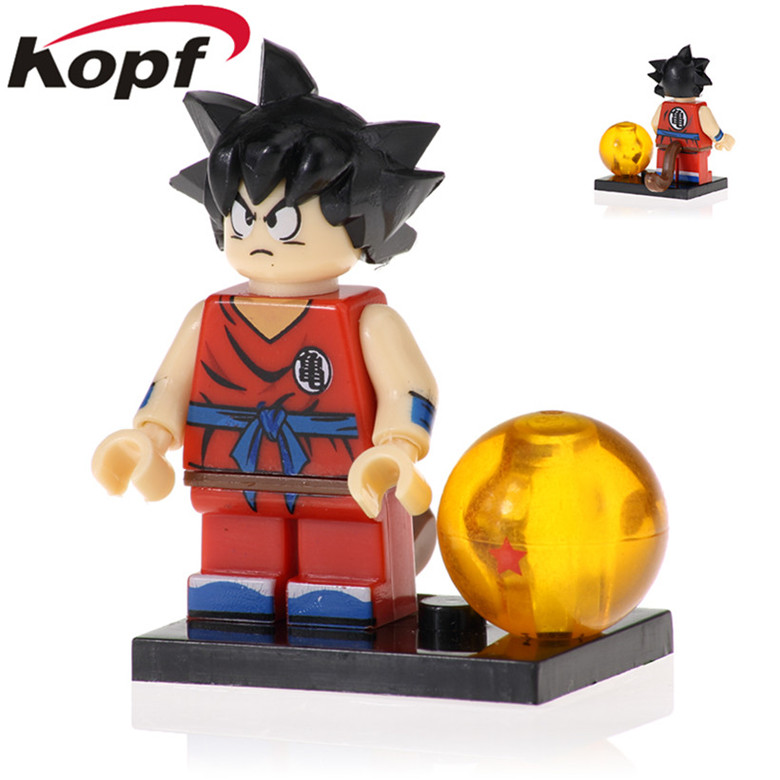 50Pcs PG1367 Dragon Ball Z Figures Goku Son Goten Gotenks Trunks Tien Shinhan Android 18 Building Blocks Bricks Toy For Children(China)