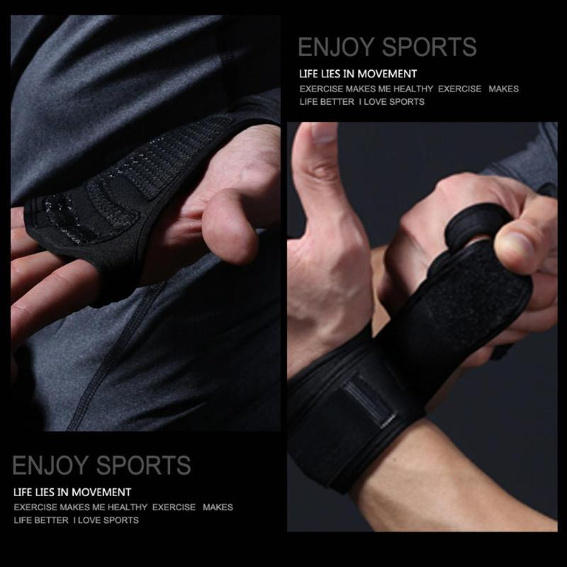 1 Pair Gym Gloves Weight Lifting Training Gloves Women Men Fitness Sports Body Building Gymnastics Grips Gym Hand Palm Protector 18