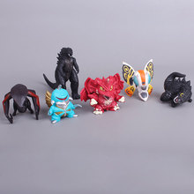 6pcs/set Gojira ultraman dolls PVC action figures toys anime Childrens favorite characters collection dinosaur