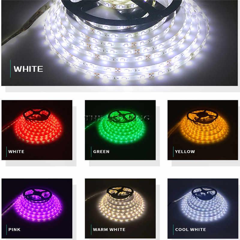 Bande de LED DC12V 60 LED s/m 5 m/lot lumière LED Flexible RGB RGBW 2835 ruban LED + adaptateur secteur AC110v/240 v bande ensemble complet