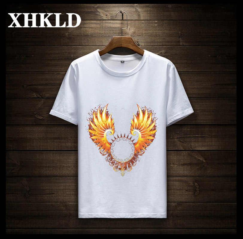 XHKLD 新メンズ Tシャツファッション O-ネック半袖スリムフィットグレープリント Tシャツの男トップ Tシャツプラスサイズカジュアル男性 Tシャツ TD227