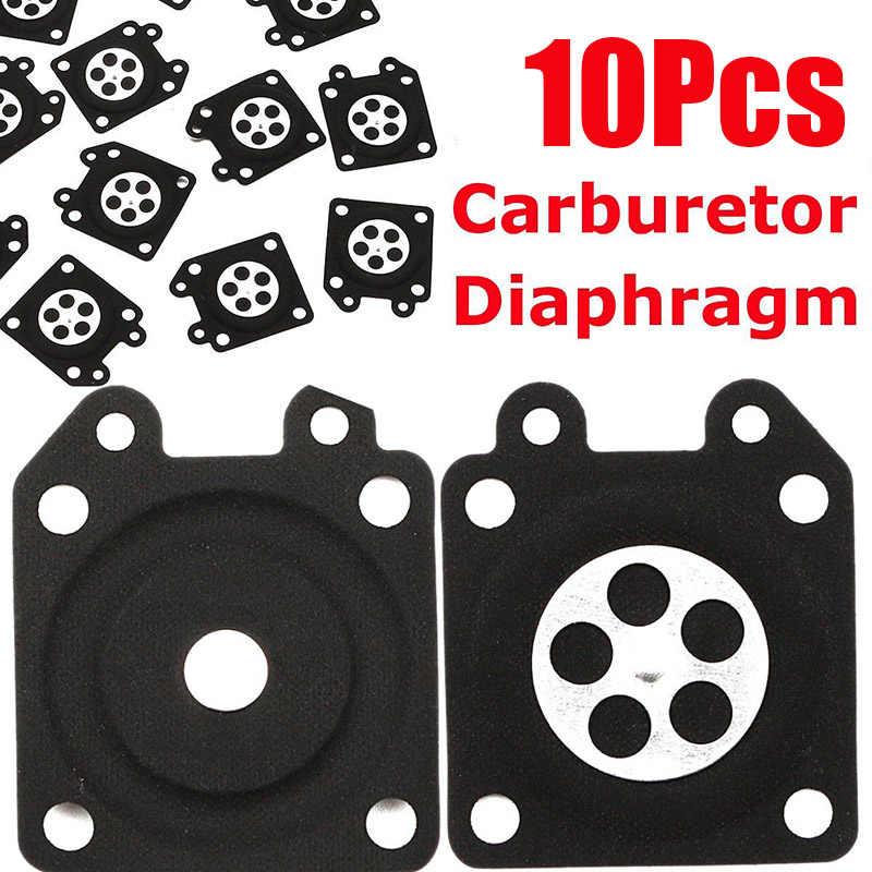 10x ยาง Chainsaw คาร์บูเรเตอร์ Metering Diaphragm ปะเก็นสำหรับ Walbro 95-526-9-8