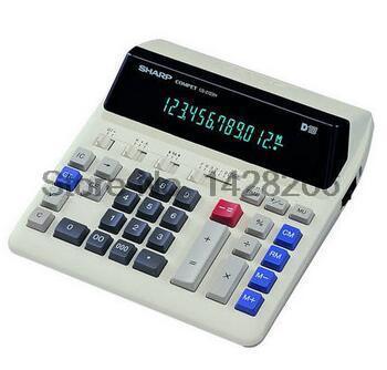 New Original Sharp CS-2122H Calculators Bank Special Fluorescent LCD Computer Keys AC Genuine Calculadora Cientifica sharp sharp cs 2122h bank калькулятор