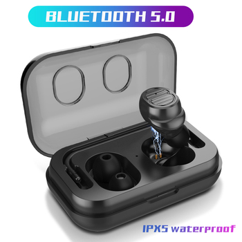 ZUOYA Bluetooth 5.0 TWS Earphones Stereo Earbuds Microphone With Charging box For Sports Wireless gaming earphone waterproof
